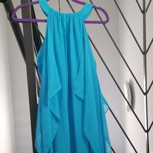 Badgley Mischka for Cache Chiffon Kaftan Dress
